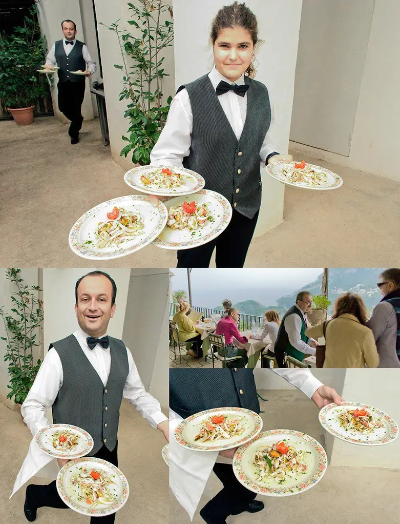 Photography of hotel service at Villa Rufalo, Amalfi Coast, Italy